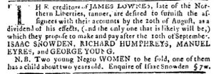 Jul 26 - Pennsylvania Journal slavery 1