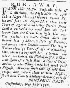 Jul 30 - Connecticut Courant slavery 1