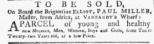 Jul 30 - New-York Gazette or Weekly Post-Boy slavery 1