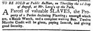Jul 31 - South-Carolina Gazette and Country Journal slavery 4