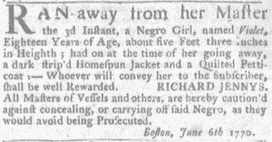 Jun 14 - Massachusetts Gazette and Boston News-Letter Supplement Slavery 1