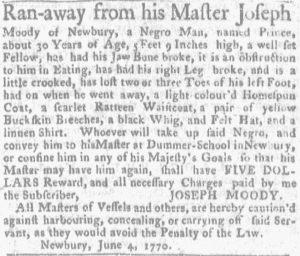 Jun 14 - Massachusetts Gazette and Boston News-Letter Supplement Slavery 2