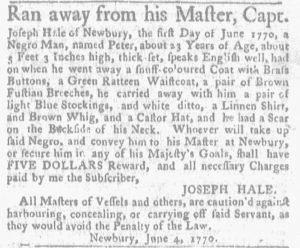 Jun 14 - Massachusetts Gazette and Boston News-Letter Supplement Slavery 3