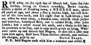 Jun 14 - Pennsylvania Gazette Supplement Slavery 1