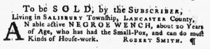 Jun 14 - Pennsylvania Gazette Supplement Slavery 4
