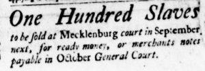 Jun 14 - Virginia Gazette Purdie and Dixon Slavery 1