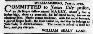 Jun 14 - Virginia Gazette Purdie and Dixon Slavery 3