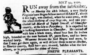 Jun 14 - Virginia Gazette Purdie and Dixon Slavery 4
