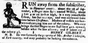 Jun 14 - Virginia Gazette Purdie and Dixon Slavery 7