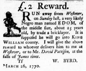 Jun 14 - Virginia Gazette Purdie and Dixon Slavery 8