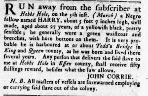 Jun 14 - Virginia Gazette Rind Slavery 8
