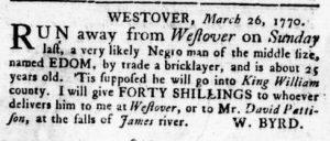 Jun 14 - Virginia Gazette Rind Slavery 9