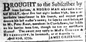 Jun 15 - South-Carolina and American General Gazette Slavery 3