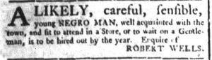 Jun 15 - South-Carolina and American General Gazette Slavery 4
