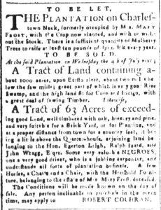 Jun 15 - South-Carolina and American General Gazette Slavery 6