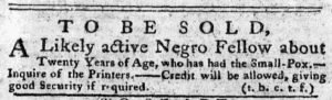 Jun 18 - Pennsylvania Chronicle and Universal Advertiser Slavery 1
