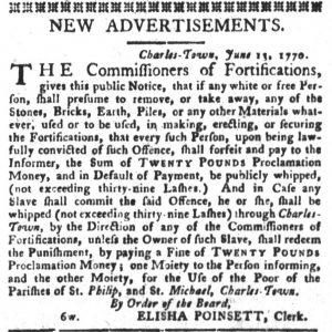 Jun 19 - South-Carolina Gazette and Country Journal Slavery 1