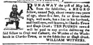 Jun 19 - South-Carolina Gazette and Country Journal Slavery 3