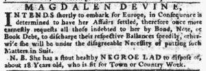 Jun 21 - Pennsylvania Gazette Slavery 5