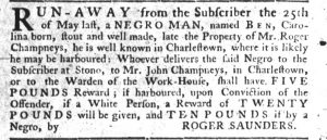 Jun 21 - South-Carolina Gazette Slavery 1