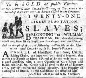 Jun 21 - South-Carolina Gazette Slavery 3