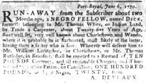 Jun 21 - South-Carolina Gazette Slavery 5