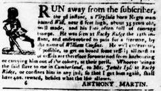 Jun 21 - Virginia Gazette Purdie and Dixon Slavery 1