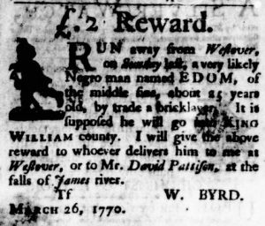 Jun 21 - Virginia Gazette Purdie and Dixon Slavery 5