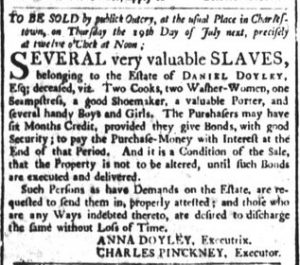 Jun 22 - South-Carolina and American General Gazette Slavery 1