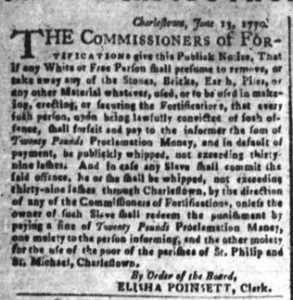 Jun 22 - South-Carolina and American General Gazette Slavery 3