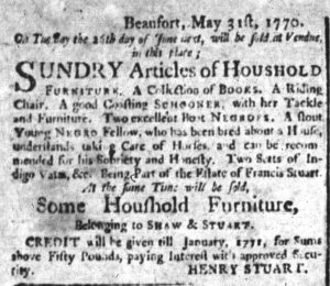 Jun 22 - South-Carolina and American General Gazette Slavery 5