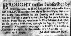 Jun 22 - South-Carolina and American General Gazette Slavery 6