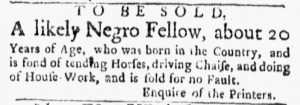 Jun 25 - Boston Evening-Post Slavery 1