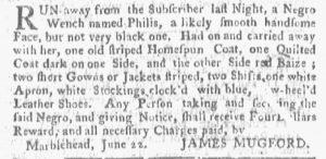 Jun 25 - Boston Gazette and Country Journal Slavery 2