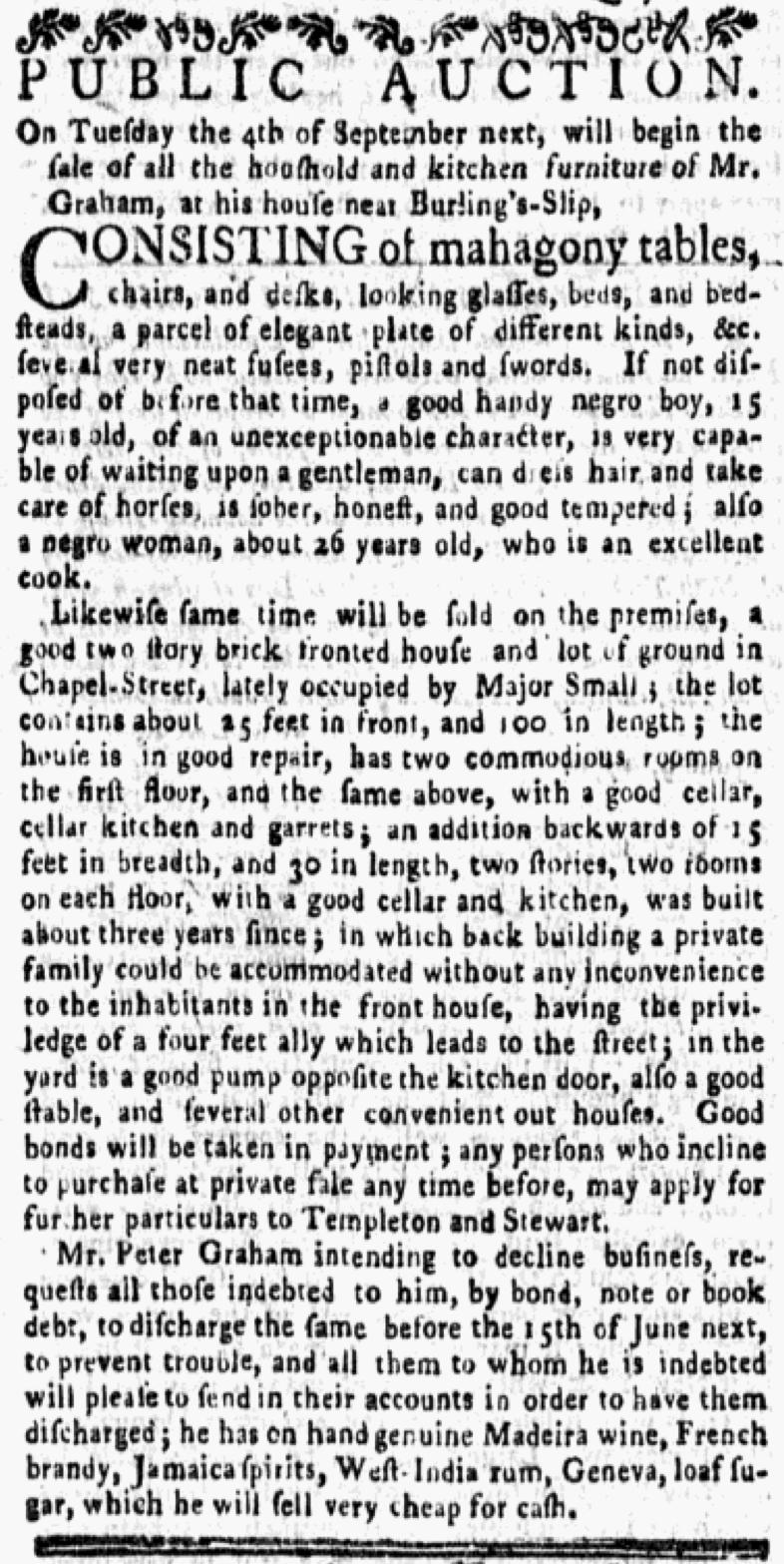Jun 25 - New-York Gazette and Weekly Mercury Supplement Slavery 1