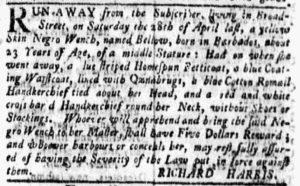 Jun 25 - New-York Gazette and Weekly Mercury Supplement Slavery 3