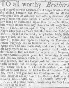 Jun 28 - Massachusetts Gazette and Boston Weekly News-Letter slavery 2