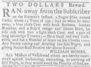 Jun 28 - Massachusetts Gazette and Boston Weekly News-Letter slavery 3