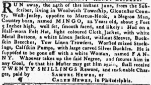 Jun 28 - Pennsylvania Gazette slavery 1