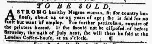 Jun 28 - Pennsylvania Gazette slavery 4