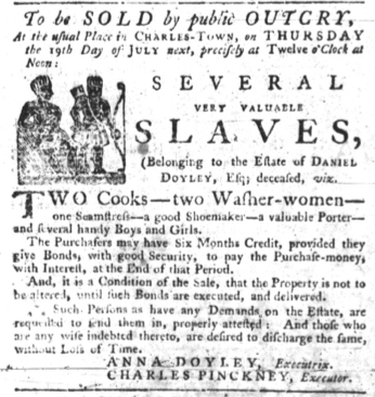 Jun 28 - South-Carolina Gazette slavery 1