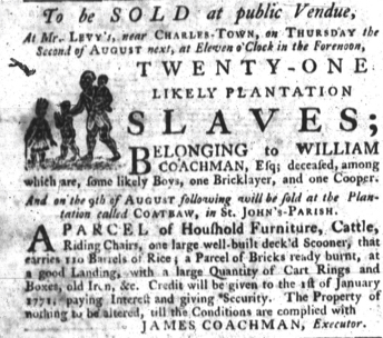 Jun 28 - South-Carolina Gazette slavery 4