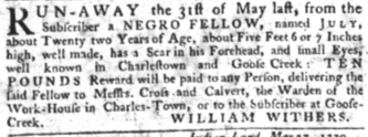 Jun 28 - South-Carolina Gazette slavery 7
