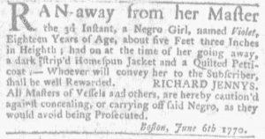 Jun 7 - Massachusetts Gazette and Boston Weekly News-Letter Slavery 3