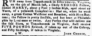 Jun 7 - Pennsylvania Gazette Slavery 1