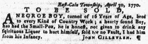 Jun 7 - Pennsylvania Gazette Supplement Slavery 2
