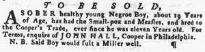 Jun 7 - Pennsylvania Gazette Supplement Slavery 3