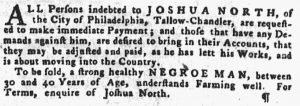 Jun 7 - Pennsylvania Gazette Supplement Slavery 4