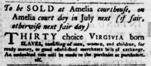 Jun 7 - Virginia Gazette Purdie and Dixon Slavery 1