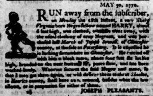 Jun 7 - Virginia Gazette Purdie and Dixon Slavery 2